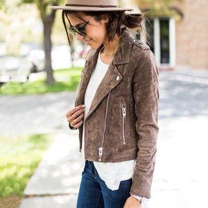 Mango Genuine Leather Cropped Suede Jacket XS